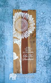 dandelion wood plaques wall pallet sunflower welcome home wall by tealelephantboutique