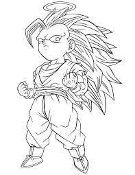 dragon ball super saiyan 4 free coloring pages art coloring