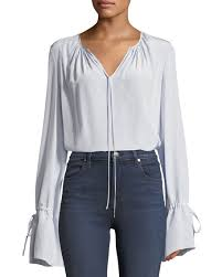 keyhole blouse diane furstenberg sleeve silk crepe keyhole blouse