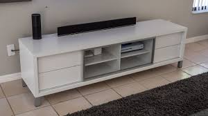 review monarch specialties white hollow core euro tv console 70
