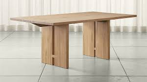 Crate And Barrel Dining Room Tables Monarch Natural Solid Walnut Dining Tables Crate And Barrel