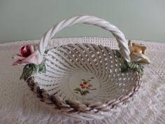 capodimonte basket of roses vintage capodimonte basket centerpiece everything