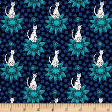 kaufman rhoda ruth cat nightfall discount designer fabric