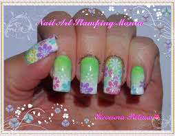 nail art stamping mania stamping decal with konad plate m100