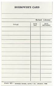 library cards and pockets vintage style library borrower s card 10 pk