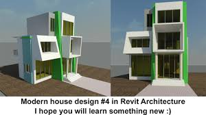 revit architecture modern house design 4 youtube