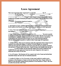 rental lease template letter format example