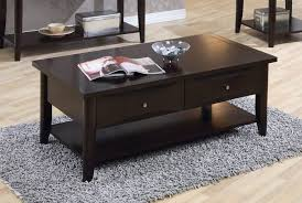 Espresso Console Table Coffee Tables Glass Of Iced Cappuccino Coffee On Wood Table