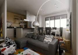 small apartment design ideas gray faux fabric sleeper sofa