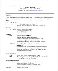 New Graduate Nurse Resume Examples by Cv Template For Nursing Students