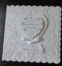 60th wedding anniversary greetings luxury diamond wedding 60th anniversary card personalised