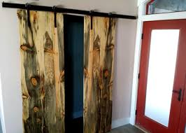 Pine Barn Door by Beetle Kill Pine And Custom Fabricated Rusted Hardware Old