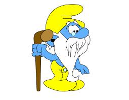 grandpa smurf free vector download hurdurivan deviantart
