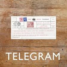 Telegram Wedding Invitation Vintage Telegram Invitation Postcard 30th Birthday Pinterest