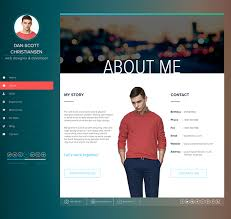 resume html template ispy cv resume html template on behance