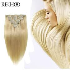 Blonde Hair Extensions Clip In by Aliexpress Com Buy Remy Brazilian Hair Clip Extensions Blonde