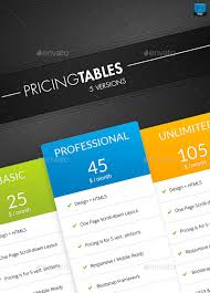 pricing table by exe design graphicriver