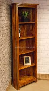 Solid Wood Bookcase Antique Bookcase Indian Hand Carved Reclaimed Wood Book Shelf