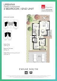 floor plans emaar south townhomes