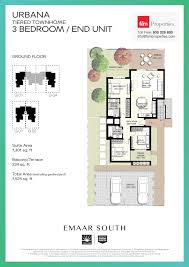 Townhome Floorplans by Floor Plans Emaar South Townhomes
