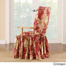 dining room chair slip cover sure fit ballad bouquet arm dining room chair slipcover free