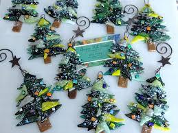design glass tree ornaments ornament fused