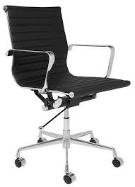 Laptop Desk Chair by Amazon Com Soho Eames Style Ribbed Management Office Chair Black