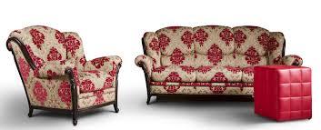 traditional sofa leather fabric 2 seater palatino nieri