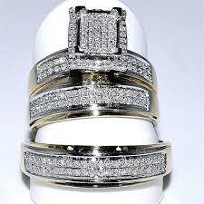 his and wedding ring set his wedding rings set trio 10k yellow gold