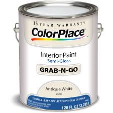 colorplace cp antique white semigloss int paint 1g walmart