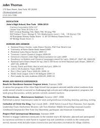 teenage curriculum vitae template resume templates for senior
