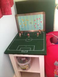 felt topped football pitch bedside table with soccer starz models felt topped football pitch bedside table with soccer starz models larger board for game play