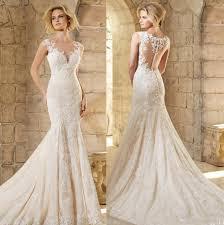 wedding dresses shop online new sytle lace wedding dress pearls sashes mermaid
