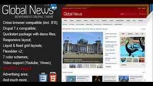drupal themes latest global news portal responsive drupal theme themeforest website