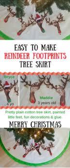 easy to make reindeer footprints tree skirt mistletoe mill