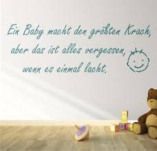 sprüche über lachen wandtattoo ein baby macht den größten krach sprüche lachen geburt