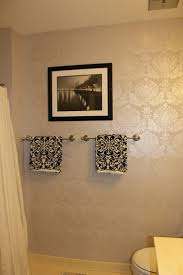 paint ideas with stencil peahen pad guest bathroom wall stencil