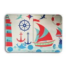 Nautical Indoor Outdoor Rugs by Aliexpress Com Buy Doormat Custom Machine Washable Nautical Navy