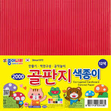 corrugated colored paper produced by jong ie nara co ltd buy