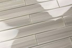 details about light gray 2x12 hand painted subway glass tile
