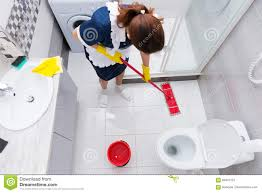 bathroom how to clean floor housekeeper in a hotel mopping a floor stock image image 69401123