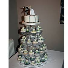 cupcake wedding cake iced cupcakes cupcake wedding cakes in a teal and silver theme