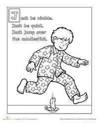 jack nimble coloring worksheets nursery nursery