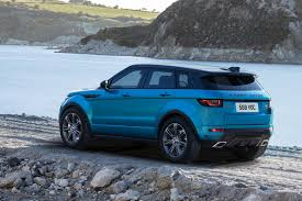 blue range rover interior range rover evoque landmark edition celebrates sales success by