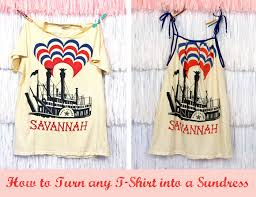 how to turn any t shirt into a sundress pretty prudent