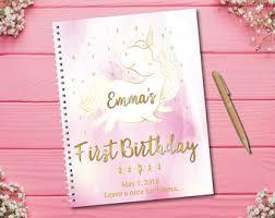 birthday wish book birthday guestbook etsy