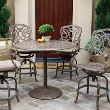 Bar Height Patio Set With Swivel Chairs Bar Height Patio Table To Decorate Your Outdoor Space Unique