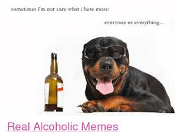 Alcoholism Meme - sometimes i m not sure what i hate more everyone or everything real