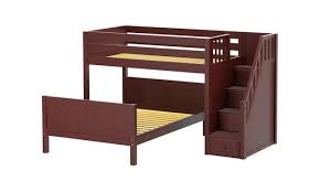 Top Kids Twin Over Full Bunk Beds  L Shaped Beds Maxtrix - L shaped bunk beds twin over full