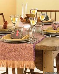 fringed tweed table runner martha stewart